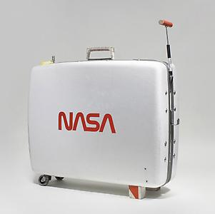 Tom Sachs  <i>Supreme Allied Commander Moon Rock Box</i>, 2008-2009 Suitcase, DVD player 61 x 71.1 x 22.9 cm  ed.1/3+1 ap