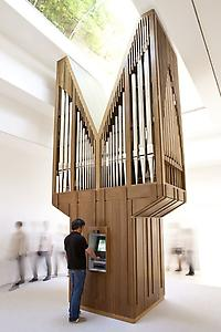 "<i>Algorithm</i> 2011 Atm, Pipe Organ, Computer 232 x 120 x 59 in Installation view: ""Gloria"" US Pavilion, presented by the Indianapolis Museum of Art, 54th International Art Exhibition, La Bienal di Venezia Photo: Andrew Bordwin"