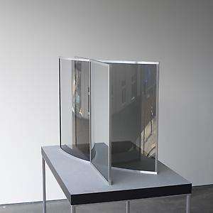 <i>One Straight Line Crossed by One Curved Line, </i>2007-2008 2-way mirror glass 1070 x 670 x height 710 mm