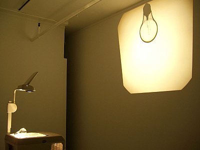 Ceal Floyer, <i>Overhead Projection,</i> 2006, Incandescent light bulb and overhead projector, Dimensions variable