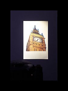 <i>Big Ben Piece, </i>2003 35mm Slide Projection with timer Dimensions variable