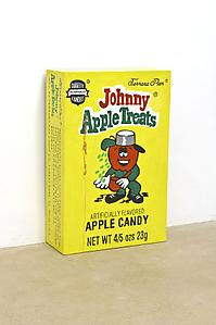 Tony Oursler  <i>Johnny Apple Treats</I>, 1990 Acrylic ,wood, diethylene glycol 81 x 53.3 x 21.6 cm