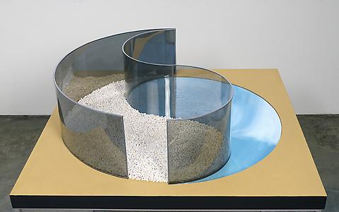 <i>Model for Ying Yang Pavilion,</i> 1991 MDF, perspex 31.5 x 107 x 107 cm