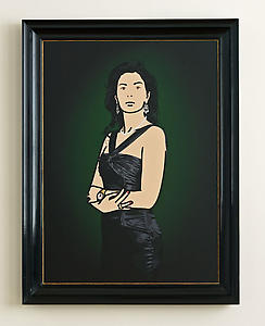 Antonia with evening dress., 2008 Acrylic in aluminium frame