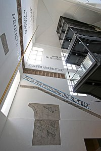 Lawrence Weiner <i>Made To Produce A Spark </i> Work in situ Italy: Museo D'Arte Contemporanea, Rivoli Torino  March 28-July 30, 2006.