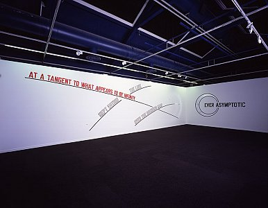 Lawrence Weiner <i>AT A TANGENT TO WHAT APPEARS TO BE INFINITY, </i>2006 Language and the materials referred to Dimensions variable