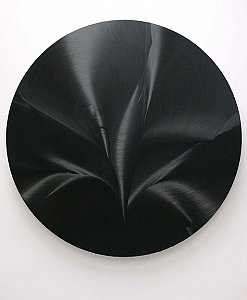 Jason Martin  <i>Oceania</i>, 2006 Oil on stainless 175 cm diameter
