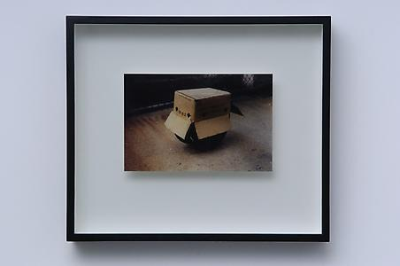Richard Wentworth  <i> New York, 1989. Occasional geometries,</i> 1989 Unique colour photograph 43.5 x 51 x 6.5 cm ed.unique