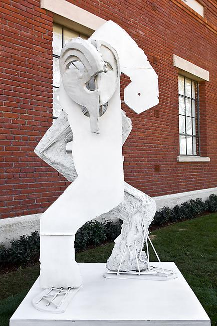<i>Dancer II</i>, 2010 bronze, latex paint Figure: 81 x 47 x 41 inches Base: 12 x 50 x 44 inches