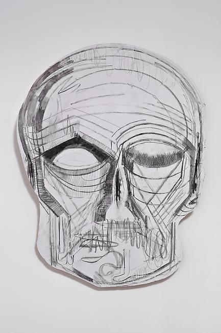 <i>Untitled</i>, 2011 Tuf-Cal, hemp, iron rebar 41 1/8 x 3 1/2 x 32 inches