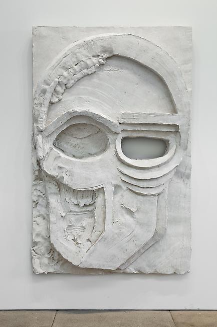 <i>Decorative Panel (Wall 2011 Relief)</i>, 2011 Tuf-Cal, hemp, iron rebar 76 1/2 x 49 1/2 x 8 inches