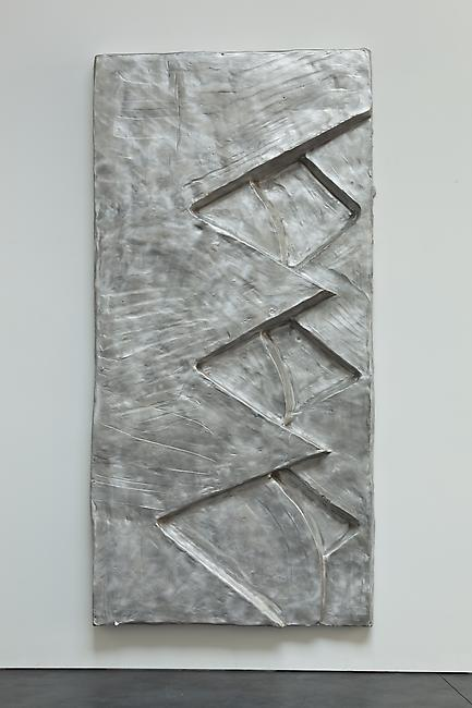 <i>Tujunga Series (Moon & Pine)</i>, 2010 cast aluminum 94 x 46 1/2 x 7 inches