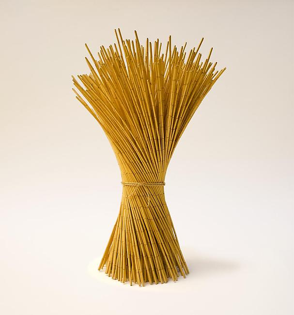 <i>Gather (forty)</i>, 2010 gold plated beads, stainless steel 9 13/16 x 4 3/4 inches