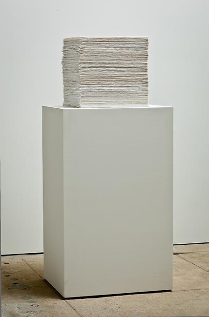<i>Stack (one million)</i>, 2010-2011 6,460 9mm beads woven to make one square sheet, 175 pages stacked to create a cube 13 3/4 x 13 3/4 x 13 3/4 inches