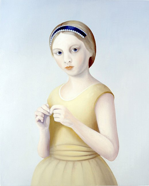 <i>Olivia</i>, 2004 oil on linen 24 4/5 x 19 3/5 inches