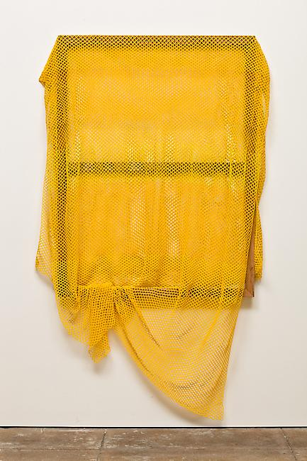 <i>Untitled</i>, 2009-2011 glass beads, cotton, stretcher frame 78 x 47 x 6 inches