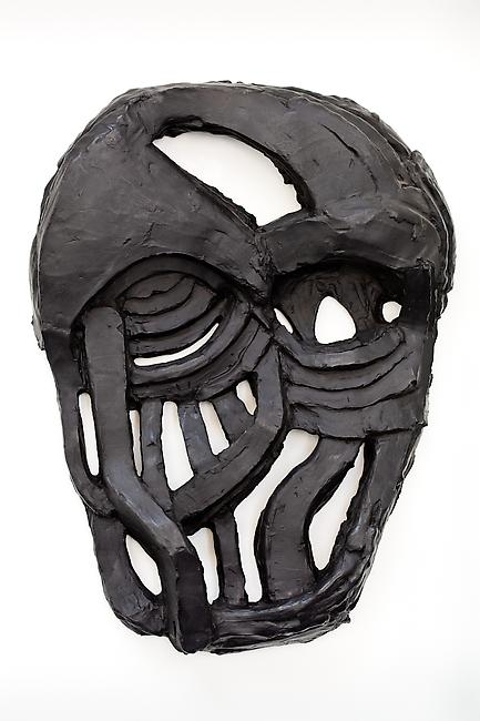 <i>Wall Mask (Broken/Open)</i>, 2010 bronze 35 x 28 x 6 inches