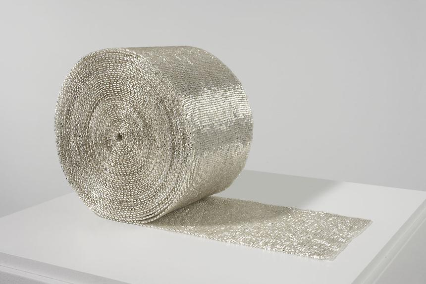 <i>Roll</i> 2007-2008 cotton and glass beads 6 5/8  x 6 5/8 x 4 3/4 inches (16.8 x 16.8 x 12.1 cm) 1/3 + 1 AP