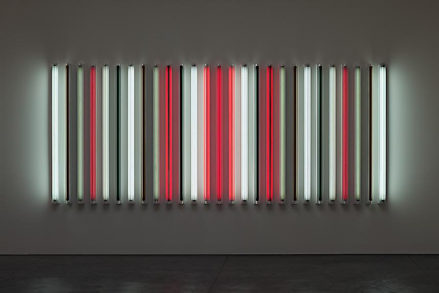 <i>All That Jazz</i>, 2011 Light + Shadow + Reflection + Color 72 x 172 5/8 x 4 inches