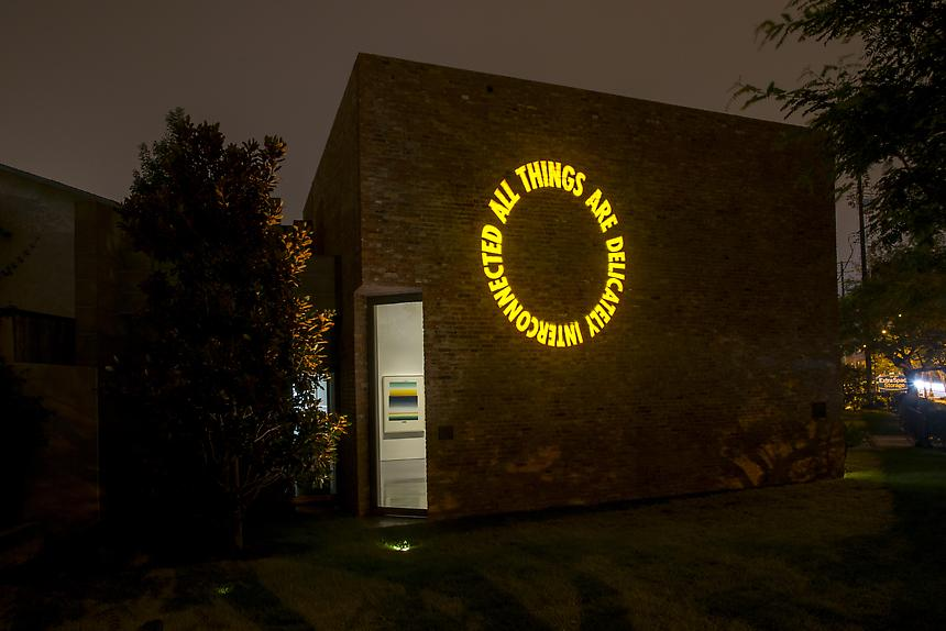 East Gallery<br> Gobo light projection, 2012<br> Dimensions variable<br>  Photo credit: Joshua White/JW Pictures