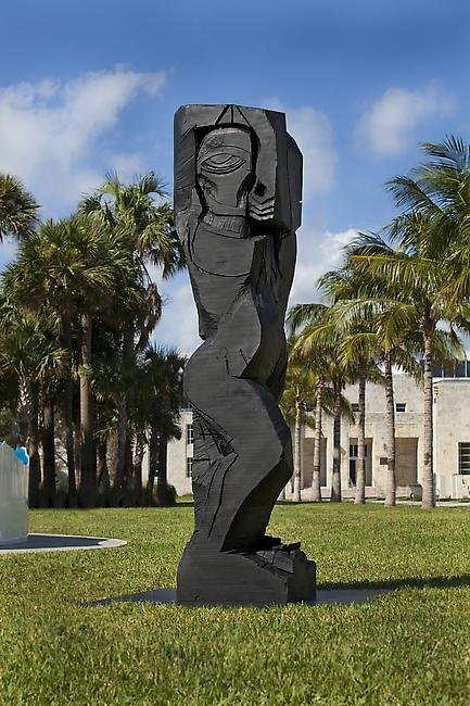 Art Public | Miami Beach   Photography: John Lair, Miami <b>THOMAS HOUSEAGO</b> <i>Rattlesnake Figure (bronze)</i>, 2011 bronze 129 x 29 x 29 inches (327.7 x 73.7 x 73.7 cm)