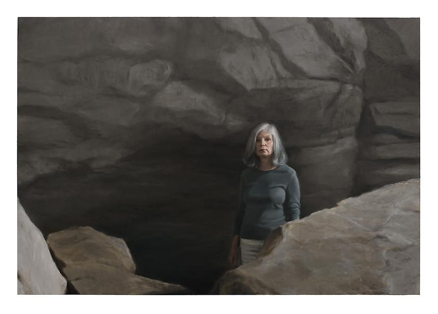 <i>Cave</i>, 2012<br> Oil on linen<br> 78 ¾ x 114 inches (200 x 290 cm)<br>  Photo credit: Fredrik Nilsen
