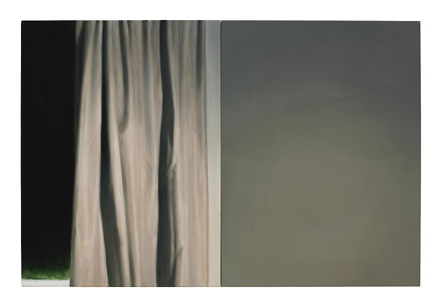 <i>Curtain</i>, 2012<br> Oil on linen<br> 39.5 x 59 inches (100 x 150 cm)<br>  Photo credit: Fredrik Nilsen