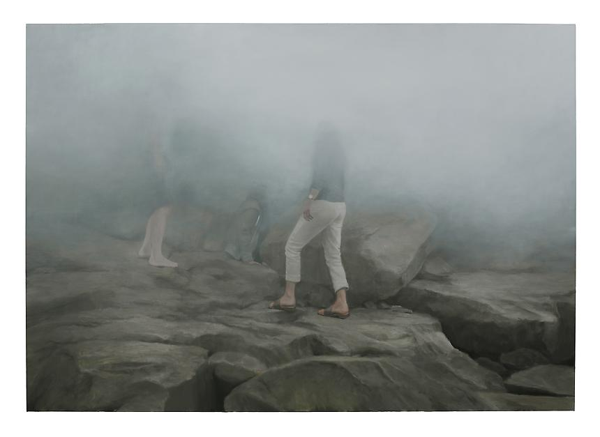 <i>Fog</i>, 2012<br> Oil on linen<br> 111 x 158 cm (282 x 400 cm)<br>  Photo credit: Fredrik Nilsen