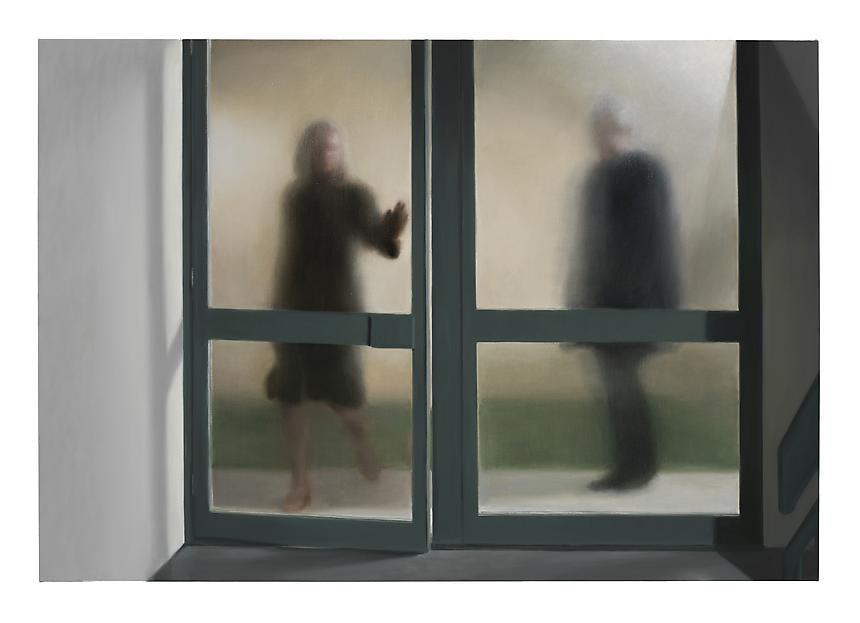 <i>Glass Doors</i>, 2012<br> Oil on linen<br> 78 ¾ x 114 inches (200 x 290 cm)<br>  Photo credit: Frederik Nilsen