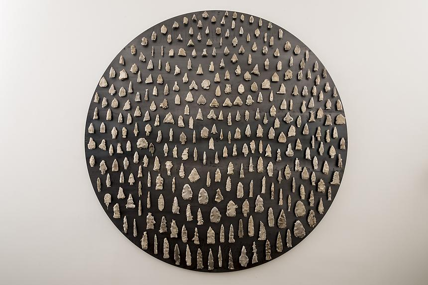 <i>Terrata</i>, 2013<br> Steel, white bronze<br> 75 inches in diameter<br> <br> Photo: Joshua White / JW Pictures