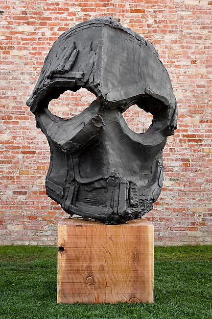 <i>Giant Mask (Cave)</i>, 2010 bronze 95 x 56 x 39 inches