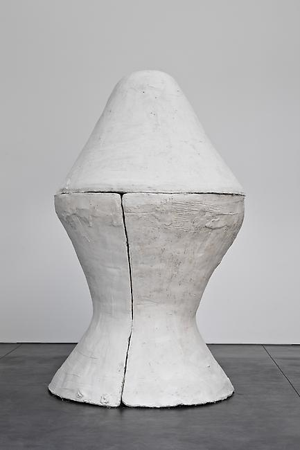 <i>Egg I</i>, 2011 Tuf-Cal, hemp, iron rebar 51 x 51 x 90 inches