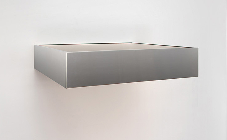 <i>Untitled (DSS 89)</i> 1966 stainless steel and amber plexiglas 6 x 27 x 24 inches