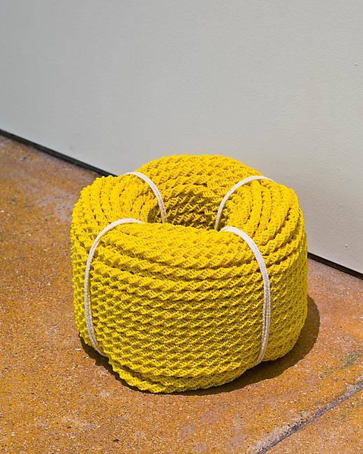 <i>Coil</i>, 2008-2010 glass beads, cotton (diameter) 5 1/2 x 8 3/8 inches