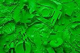 Tom Friedman <i>Toxic Green Luscious Green</i>, 2014 (Detail) Paint and Styrofoam 60 x 96 x 5 1/2 inches  (152.4 x 243.84 x 13.97 cm)