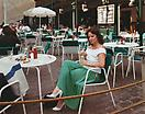 Joel Sternfeld <i>A Tourist at the South Street Seaport, New York, New York, July 1987</i> from <i>Stranger Passing</i> Ektacolor print mounted on plexi Edition of 7 with 3 artist's proofs 36 X 45 1/2 inches (91.44 X 115.57 cm)