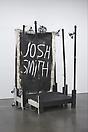 Josh Smith <i>Stage/Sculpture</i>, 2010 Wooden stage, paint, mixed media 90 x 44 x 56 inches