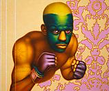 Ed Paschke Boxer with Masque, 2004 Oil on linen 50 x 60 inches  (127 x 152.4 cm)