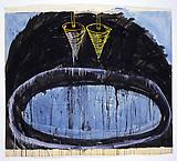 Mario Merz Untitled, 1982-83 Mixed media on paper 68 1/2 X 78 3/4 inches  (174 X 200 cm)