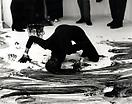Janine Antoni <i>Loving Care</i>, 1993 Performance with Loving Care Hair Dye Natural Black Photographed by Prudence Cumming Associates at Anthony d'Offay Gallery, London, 1993