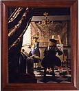 Yasumasa Morimura Vermeer Study (A Great Story out of the Corner of a Small Room), 2004 Color photograph mounted on canvas 49 1/2 X 57 1/2 inches  (125.73 X 146.05 cm)