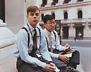 Joel Sternfeld <i>Summer Interns Having Lunch, Wall Street, New York, New York, August 1987</i> from <i>Stranger Passing</i> Ektacolor print mounted on plexi Edition of 7 with 3 artist's proofs 36 X 45 1/2 inches  (91.44 X 115.57 cm)