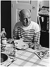 Yasumasa Morimura <i>A Requiem: Theater of Creativity/ Self-portrait as Pablo Picasso</i> , 2010 Gelatin silver print Edition of 10 and 3 artist's proofs  47 1/4 X 35 3/8 inches (120 X 90 cm)