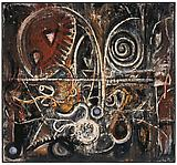 Richard Pousette-Dart <i>Animal Forms</i>, 1940-1943 Oil on linen 38 1/2 x 42 inches  (97.79 X 106.68 cm)