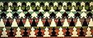 Philip Taaffe <i>Arcade</i>, 1991 Mixed media on canvas 76 x 185 inches (193 x 470 cm)