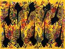 Philip Taaffe <i>Black Venus</i>, 1998–99 Mixed media on canvas 85 x 113 inches (216 x 287 cm)