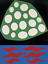 Philip Taaffe <i>Block Island</i>, 1986 Mixed media on canvas 24 x 18 inches (61 x 46 cm)