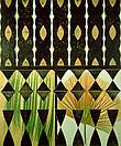Philip Taaffe <i>Botanical Veil</i>, 1989 Linoprint on linen 47 1/4 x 39 1/4 inches (120 x 99.5 cm)