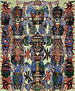 Philip Taaffe <i>Cape Vitus</i>, 2006-07 Mixed media on linen 117 1/4 x 97 1/8 inches (298 x 247 cm)
