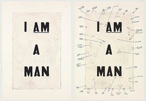 "Glenn Ligon in ""Civil Rights: We have it in our power to begin the world over again"""